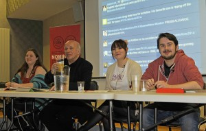 Credit: Jack Western (L to R: Bev Rogers, Greg Dyke (chair), Harriet Gibson, Chris Wall)