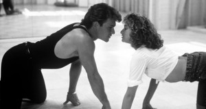 Johnny and Baby dance it out in Dirty Dancing