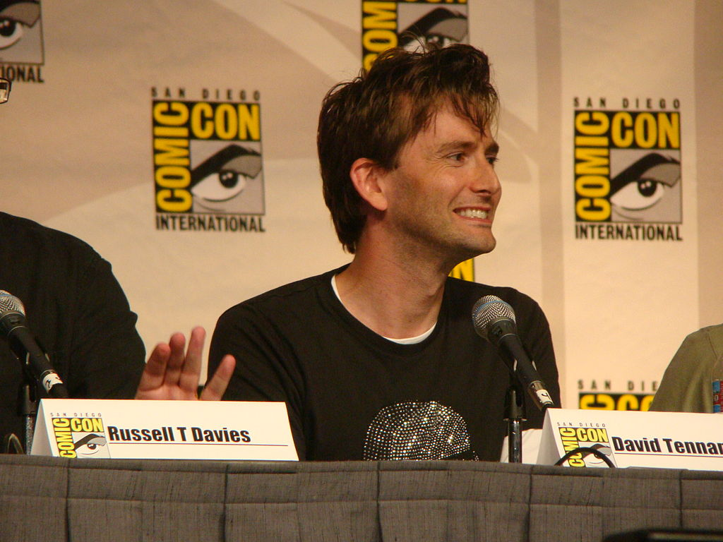 Tennant played a time travelling alien in a BBC sci-fi show.