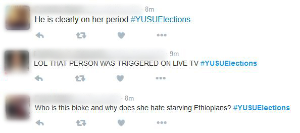 YUSU elections abusecenbsired