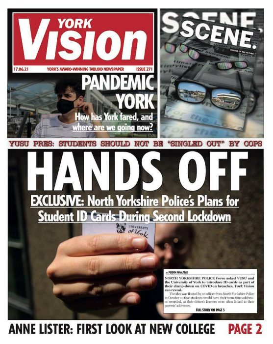 The front cover of edition 271 of York Vision.